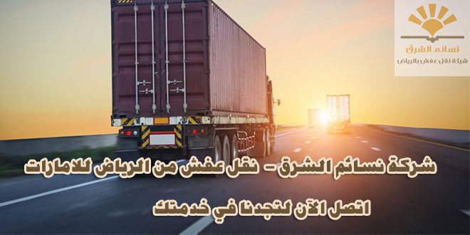 شركة نقل اثاث من الرياض الى الامارات ابوظبي – دبي – الشارقة والمزيد
